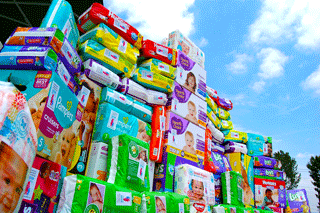 Over 6500 diapers donated in 2015/2016!