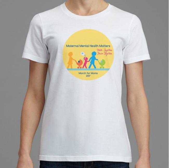 "Front – White Women's SignatureSoft T-shirt – 12"" x 12"" imprint area"