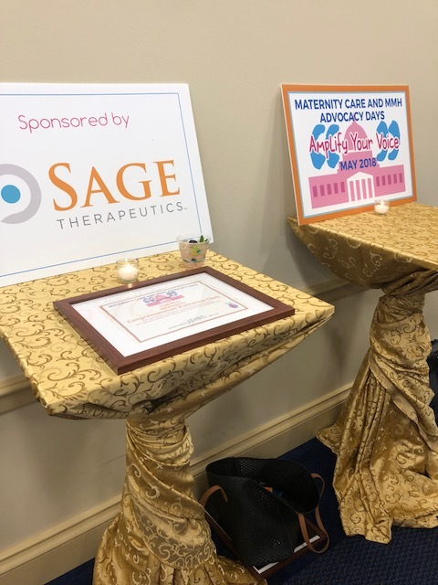 The networking reception was sponsored by Sage Therapuetics.