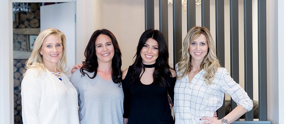Erika & Jen from the NEAT Method, Gabby, a stylist from Bloom Morristown, and Me! I want to give a big shout out to Bloom Morristown for getting all of us glam-ready for our photo shoot together!