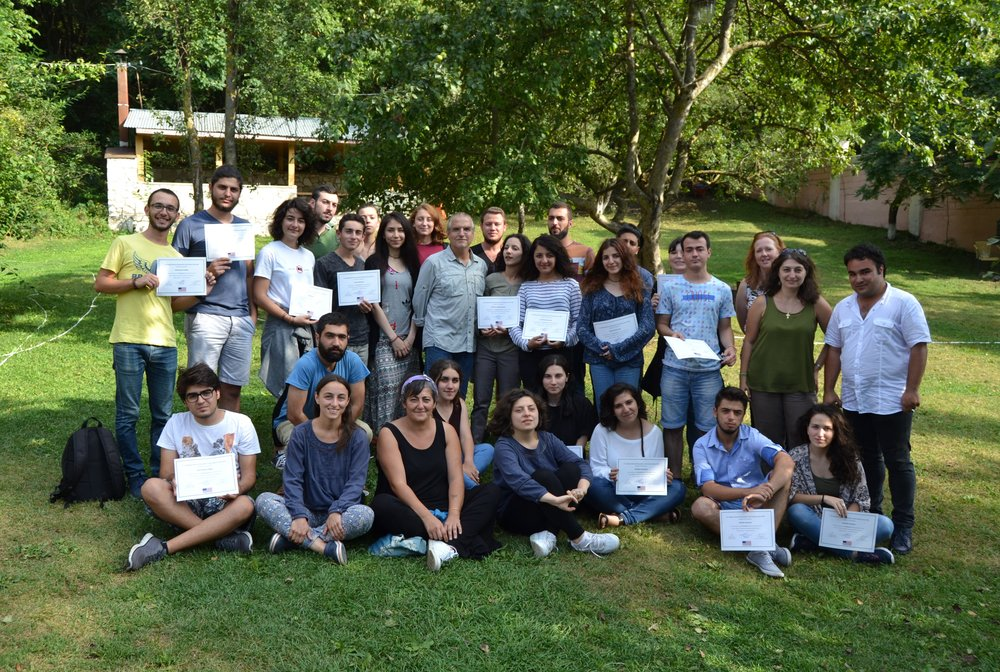 After awarding certificates for participating in the photojournalism camp, August 28, 2016 Dilijan, Armenia