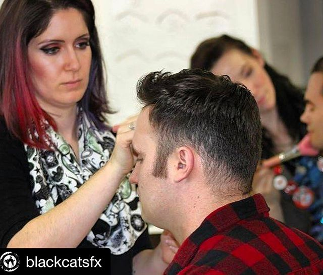 Men's Grooming class. This is a very important part of our curriculum her at @southbaylamakeupinstitute.  Be sure to check out our upcoming class schedule!  #Repost @blackcatsfx with @repostapp ・・・ Gentlemen need love too! Working shot for the men's grooming portion of the @southbaylamakeupinstitute program. Getting your male actors camera ready is rarely talked about but so important. . . Actor: @pj.megaw  Products: @temptu airbrush . . #makeup #actor #cameraready #film #makeupartist #bts #photography #beautymakeup #temptu