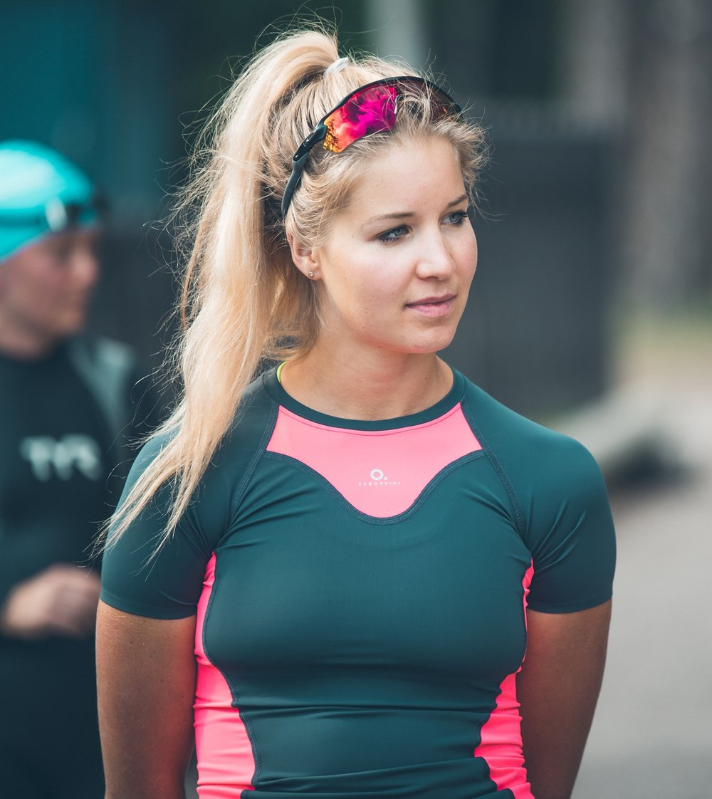Triathlonvalmentaja Mira Leskinen