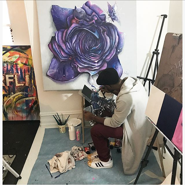 Don't Quit! #theroncook #art #wip #painting #holidaygifts #uniquegift  Meet #me @ the #pagoda #RDG  Sat. Sun. 1-3pm 🙏🏾 for more info swipe ⬅️left for flyer. #blessed #love