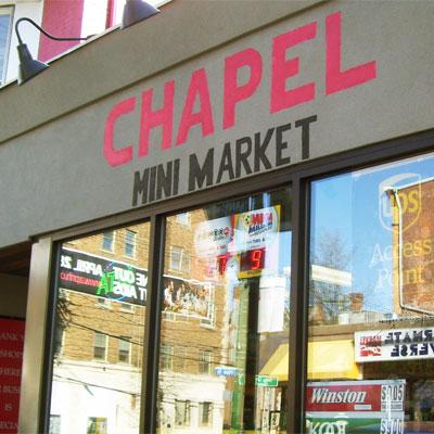 <b>Chapel Mini Mart</b><br>1182 Chapel Street<br>(203) 772-0566