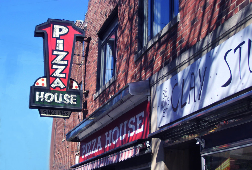 Pizza House<br> 89 Howe Street<br>(203) 865-3345