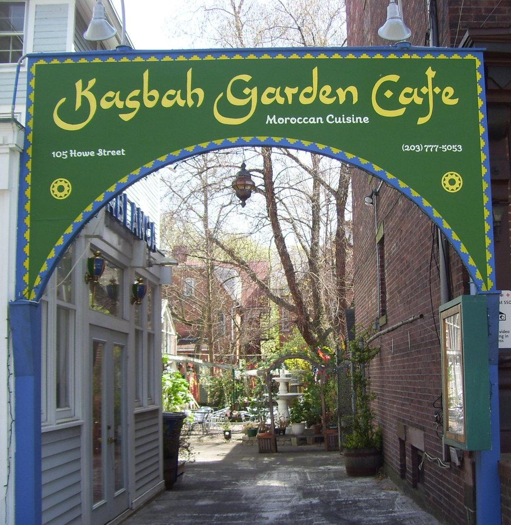 Kasbah Garden Café<br> 105 Howe Street<br>(203) 777-5053<br>