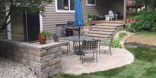 Patio, Steps & Sitting Wall