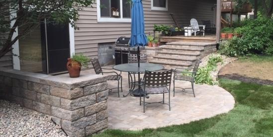 Patio, Steps & Sitting Wall