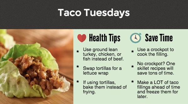 Meal planner tips for healthier tacos