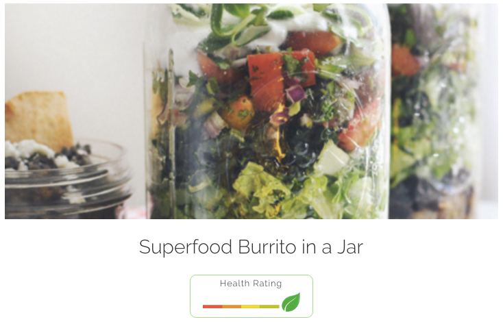 Superfood Burrito in a Jar