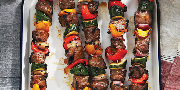 Try our  Grilled Glazed Beef & Veggie Kebabs .