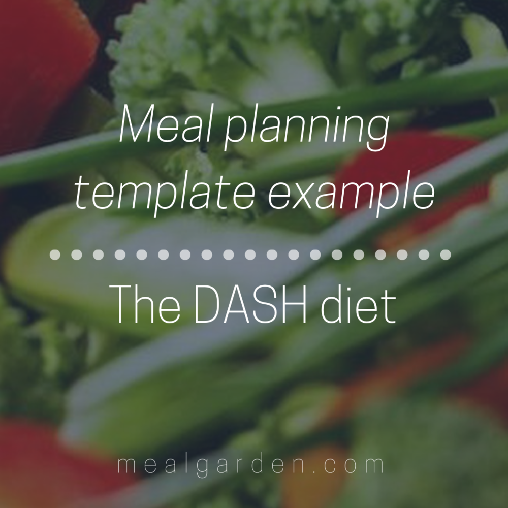 meal planning template example the dash diet meal planning for