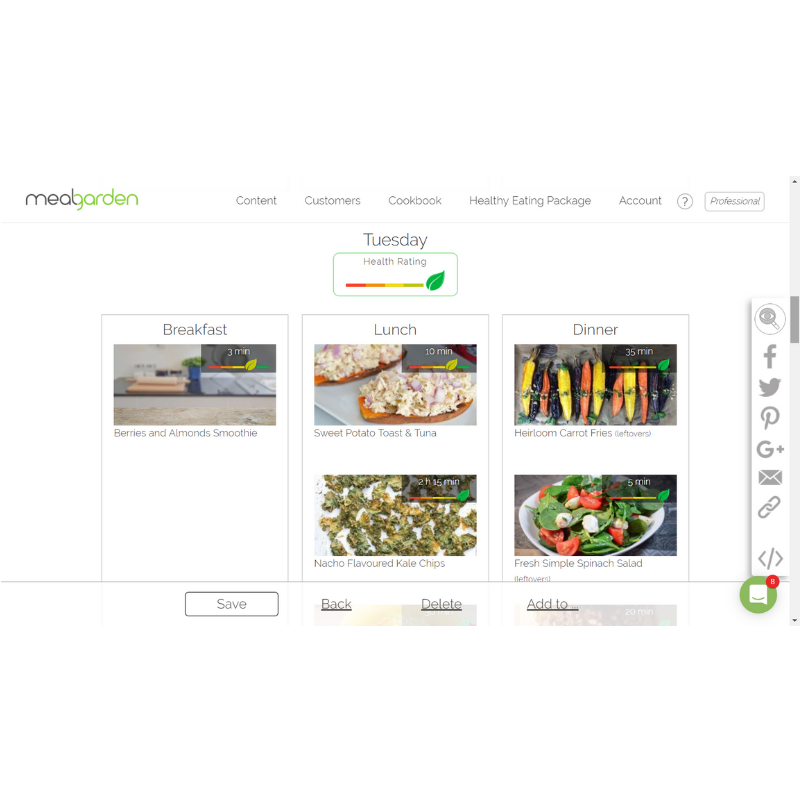 Meal Planner Software - Meal Garden