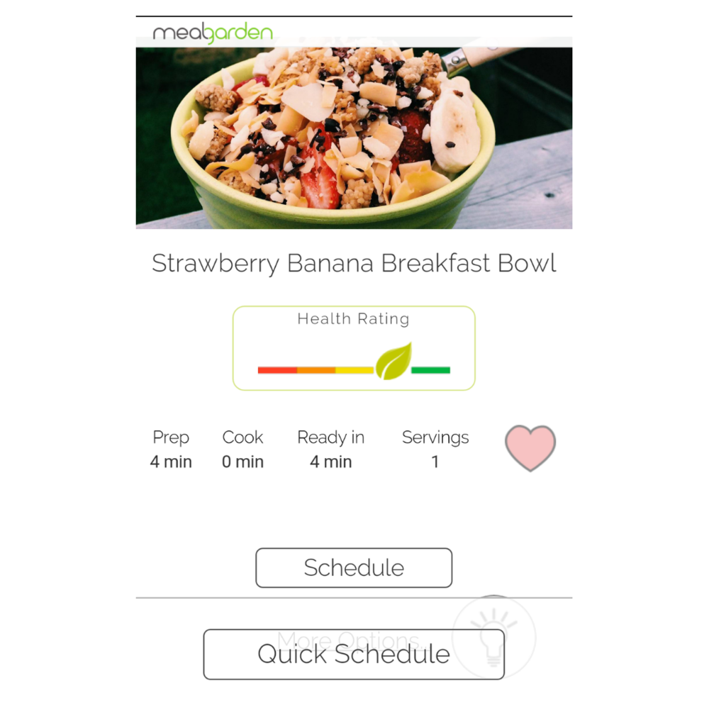 Meal planning app add recipe to cookbook