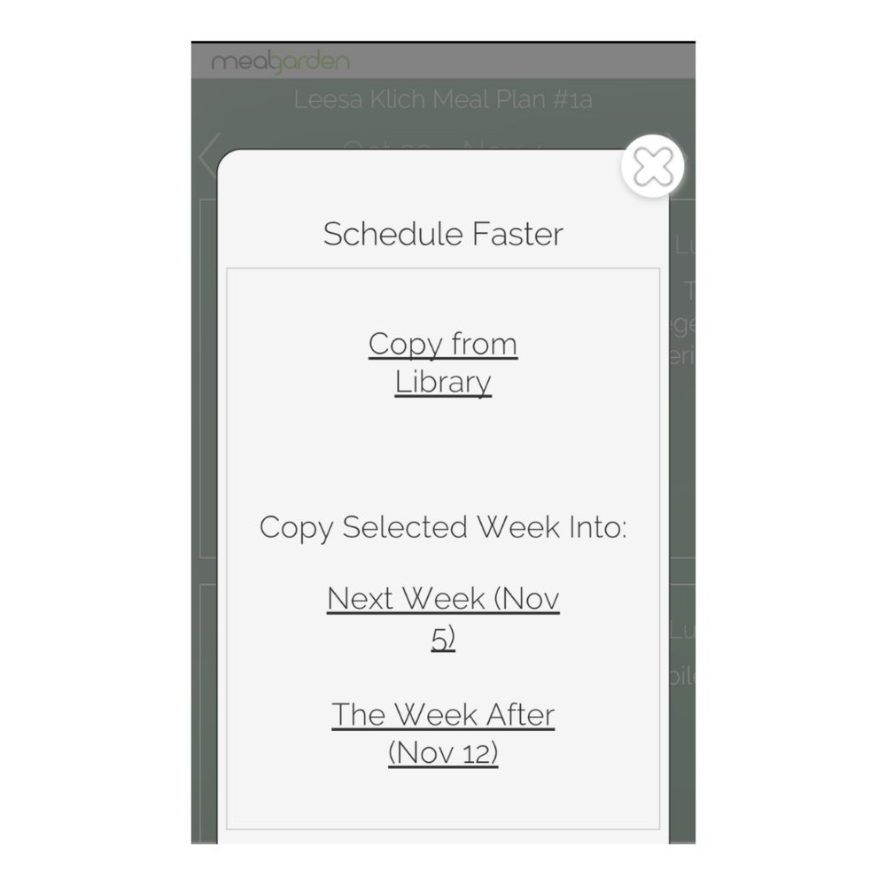 Meal planning app schedule faster