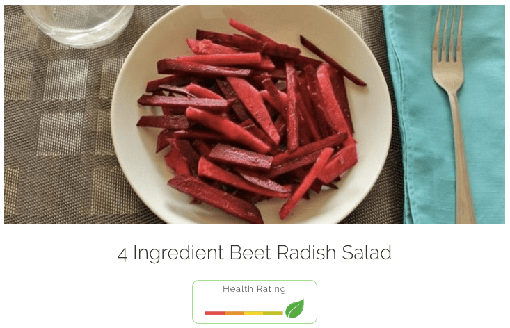 4 ingredient beet radish salad