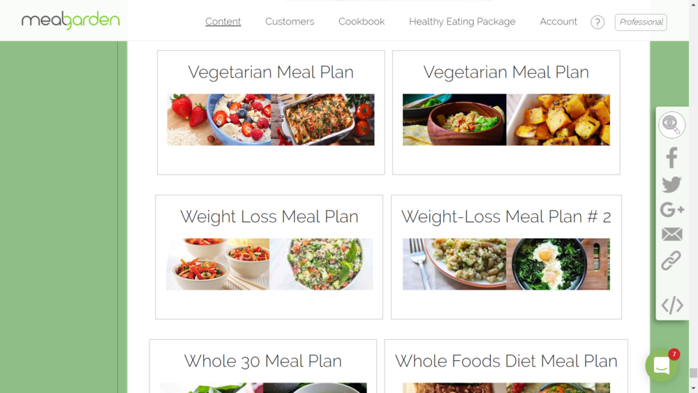 Meal plan template 3