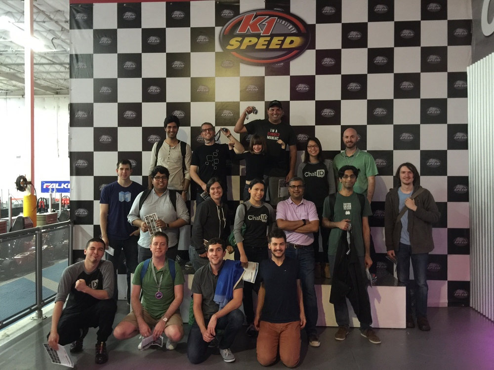 When the hard work was over, the Hackathon crew went go-karting to celebrate.
