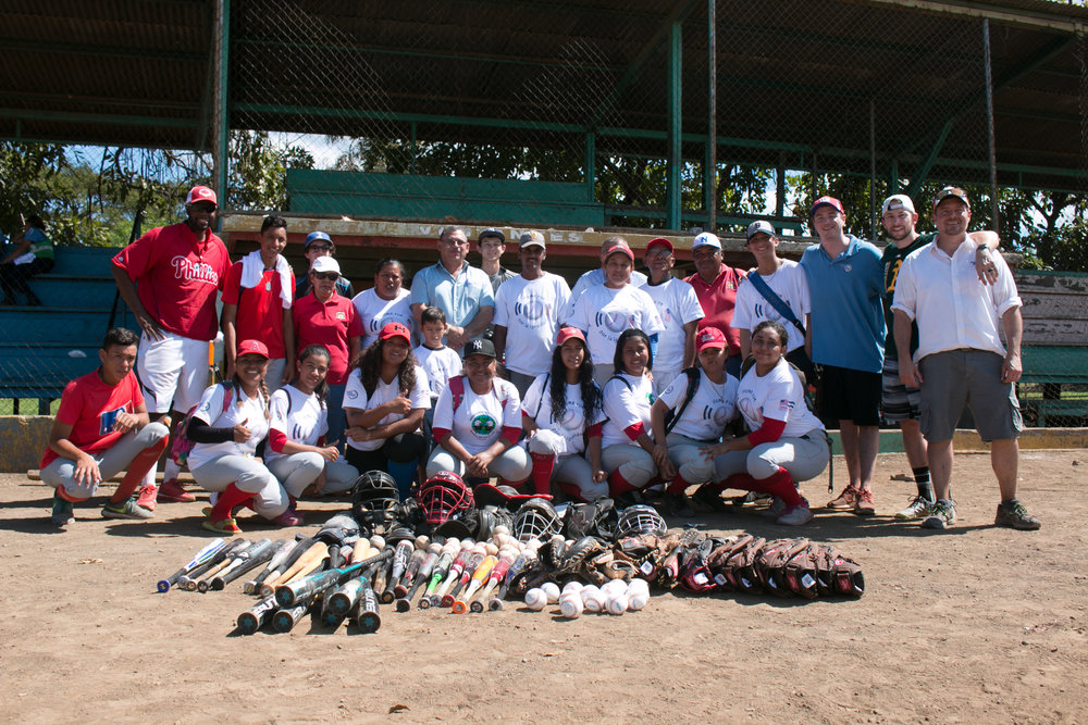 Project Béisbol donates equipment in Ciudad Sandino, Nicaragua. Photo courtesy of U.S. Embassy in Managua.