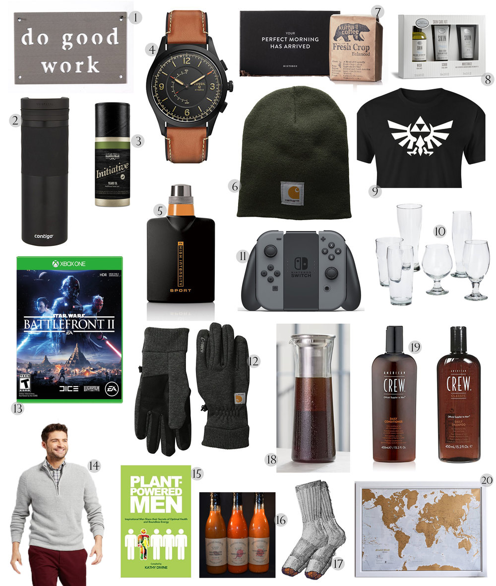 2017 Christmas Gift Guide for Him