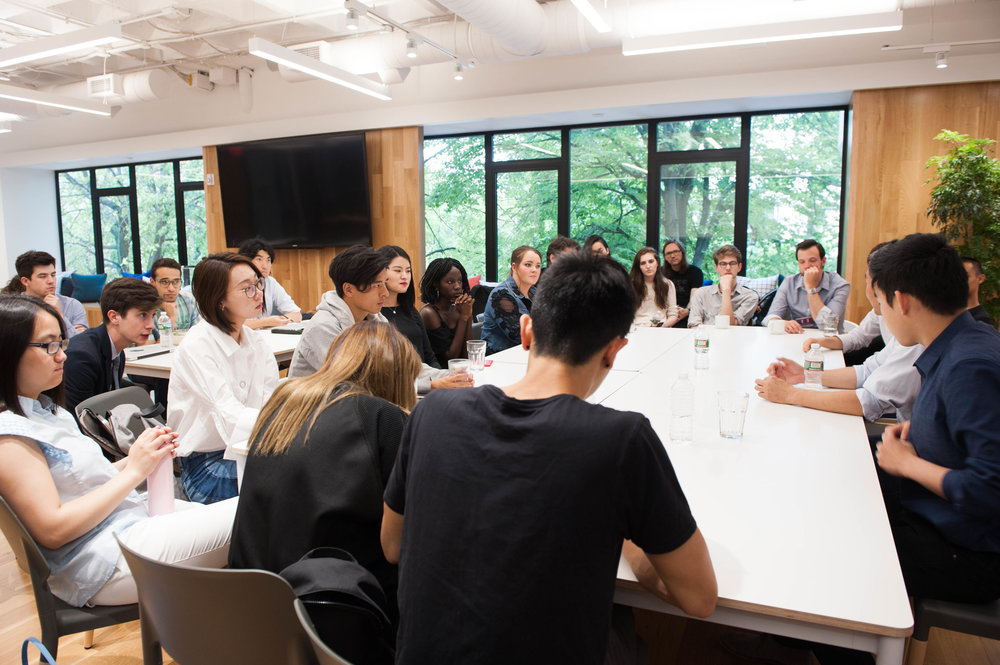 Summer Lab fellows meet with execs from Alibaba Entertainment. (Tiffany Knight, IDEO)