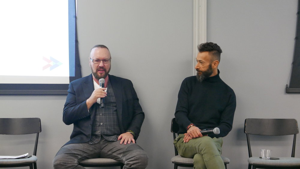 Desmond Child and Panos Panay,  VP of Innovation and Strategy, Berklee / Open Music Co-Founder,  dive into conversation about songwriting careers past, present and future