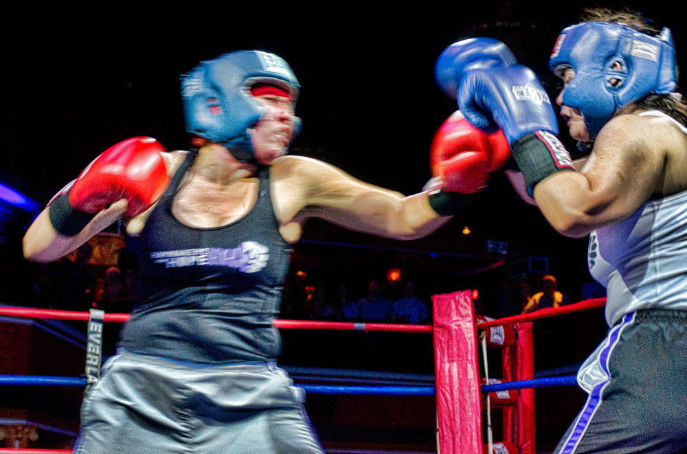 Haymakers for Hope. Women box in support of cancer research.