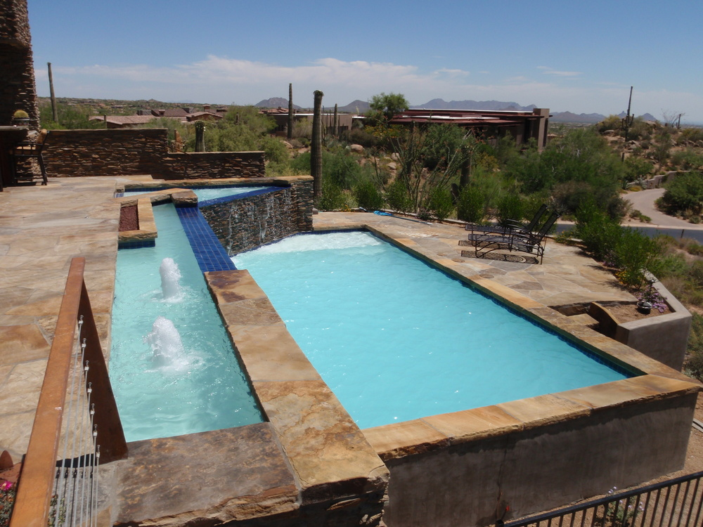 Choosing a pool shape phoenix pool builder and hot tub spa retailer blog - Rectangle pool designs ...