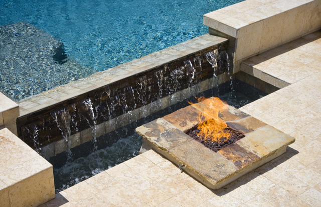 swimming-pool-waterfall-with-fire
