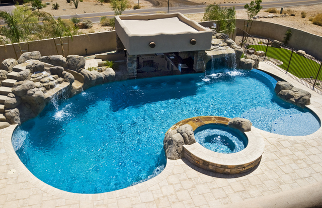 Pool Designs With Spa freeform swimming pool gallery — presidential pools, spas & patio