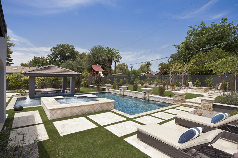 Geometric swimming pool gallery presidential pools spas for Pool pictures