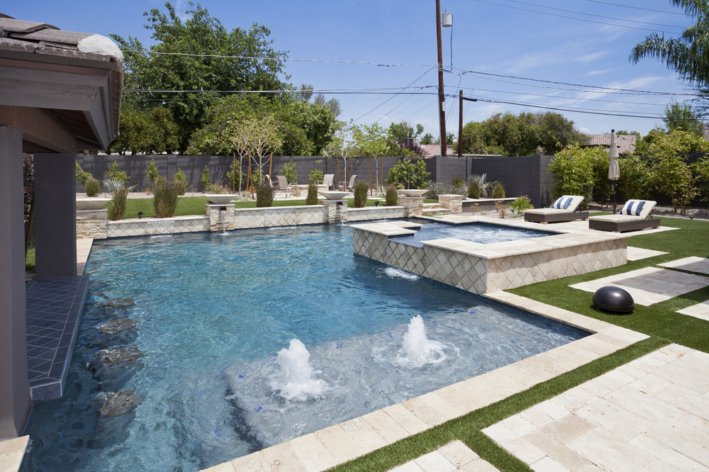 Geometric swimming pool gallery presidential pools spas - Swimming pool designs galleries ...