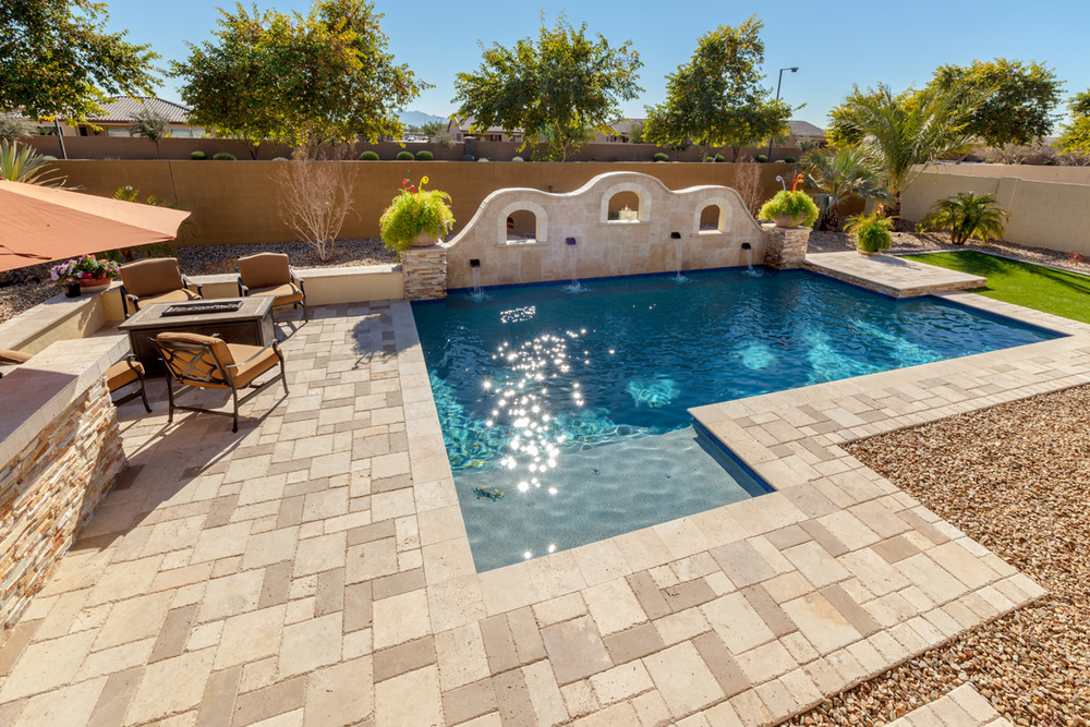 Geometric Swimming Pool Gallery Presidential Pools Spas Patio Of Arizona