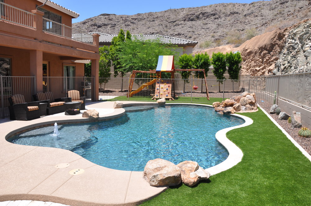 Freeform swimming pool gallery presidential pools spas for Garden pool in arizona
