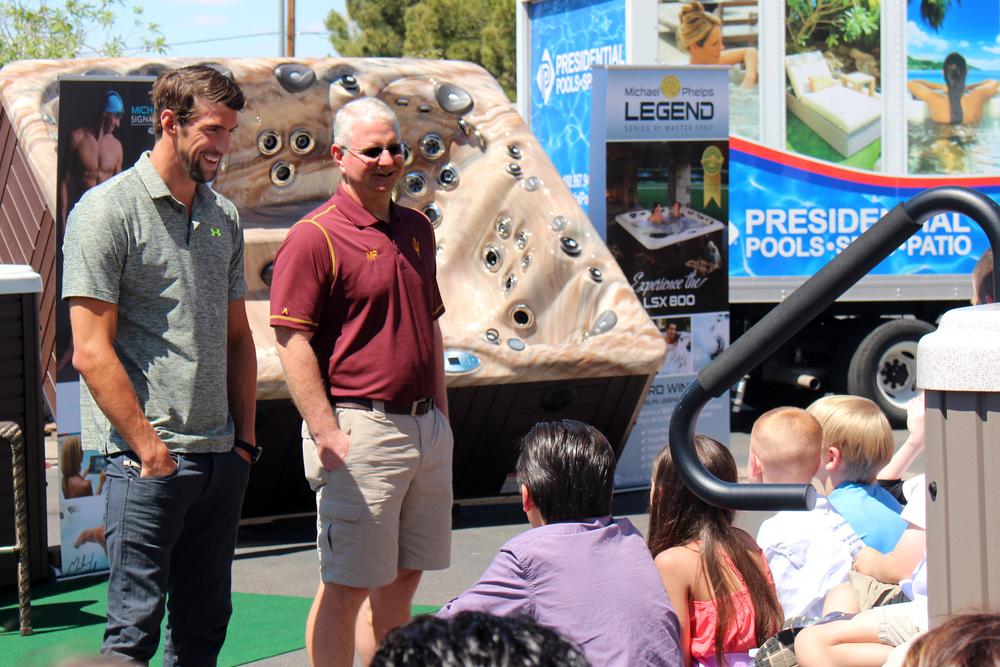 Michael-Phelps-at-Presidential-Pools-Spas-Arizona