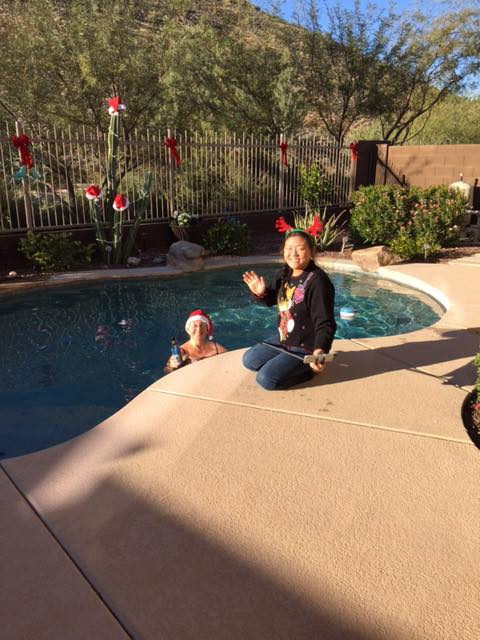 Christmas by the Pool in Arizona