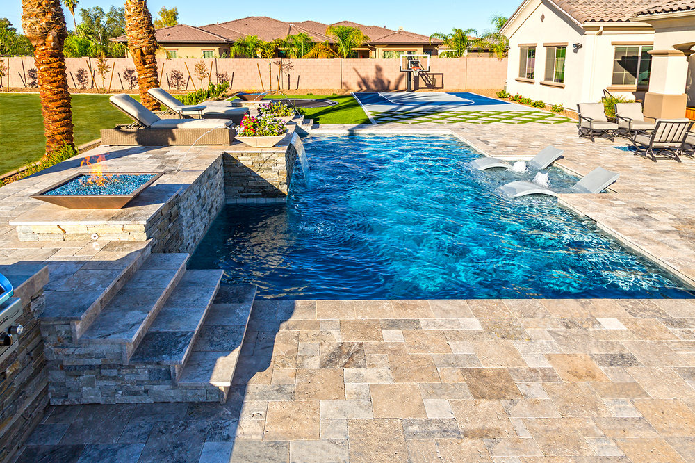 Swimming pool gallery presidential pools spas patio for Swimming pool gallery