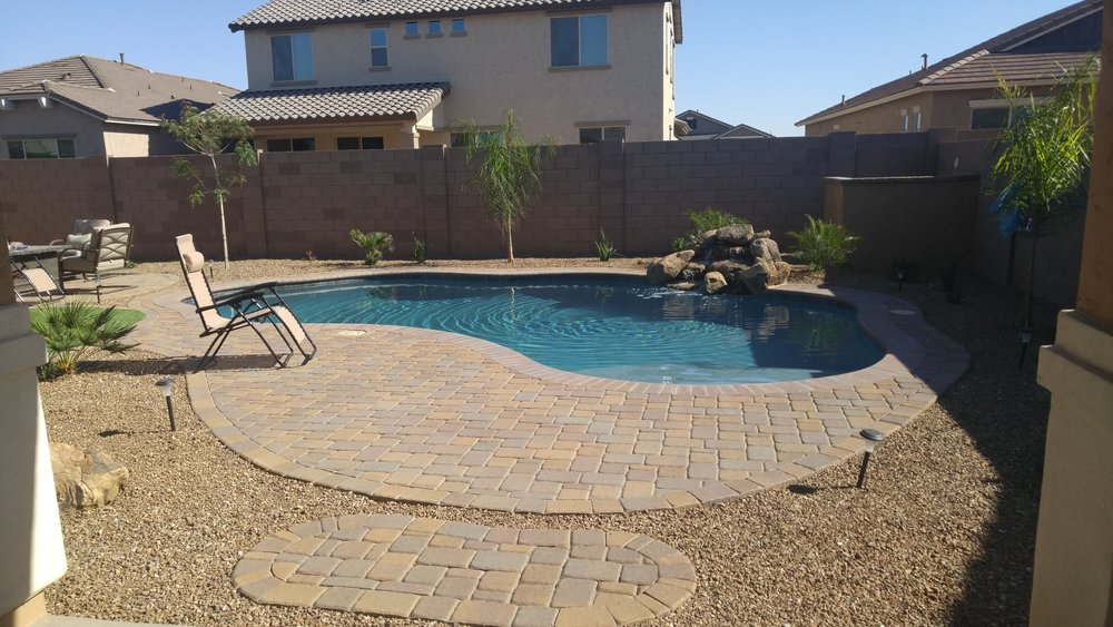 Pool build highlight the brose family of queen creek for Pool builders queen creek az