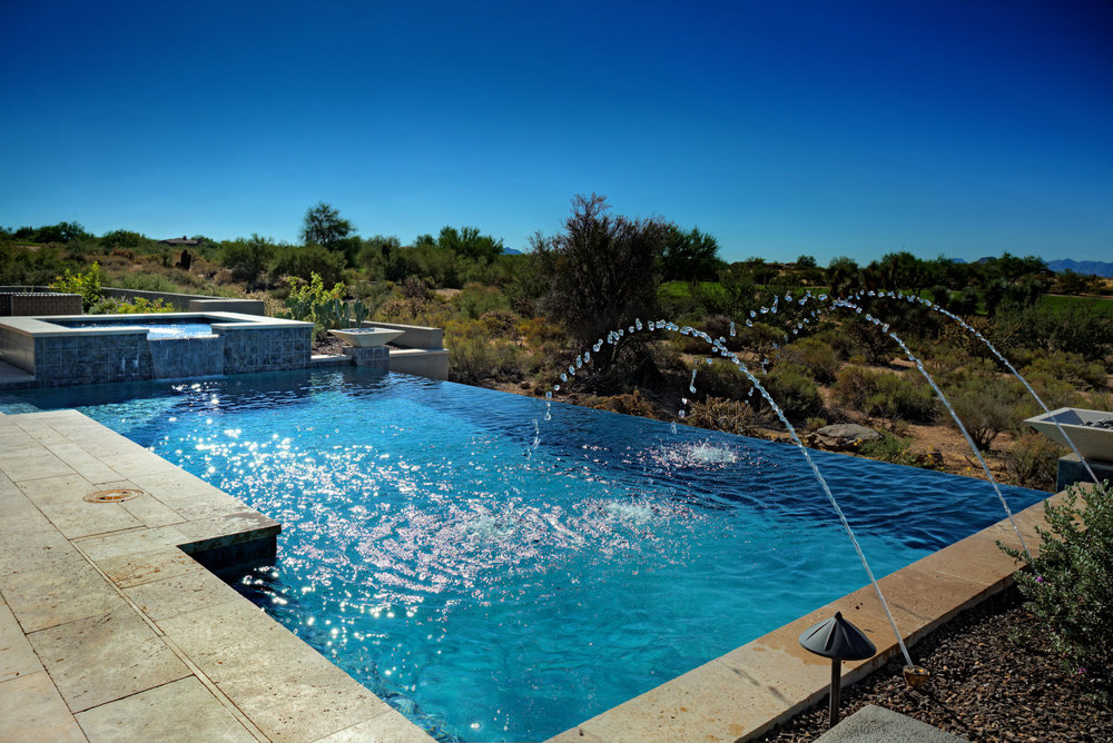 Infinity Edge Swimming Pool Gallery U2014 Presidential Pools, Spas U0026 Patio Of  Arizona