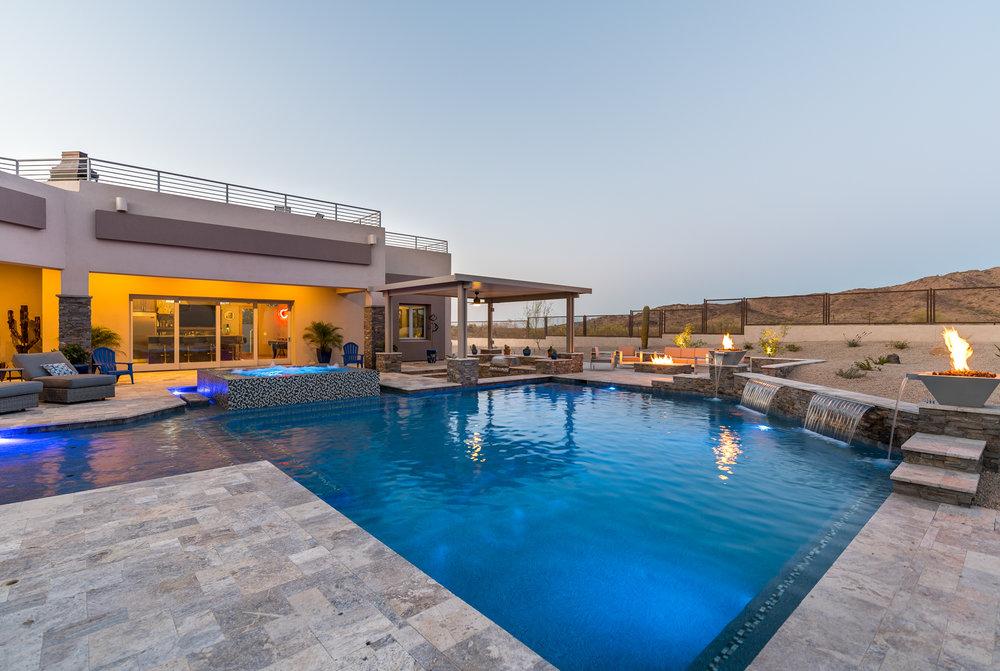 Geometric Swimming Pool Designs — Presidential Pools, Spas & Patio ...