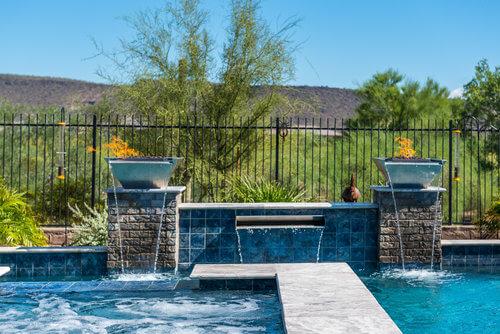 Steel Wok Pots - Sheer Descent - Custom Swimming Pool Tile.jpg