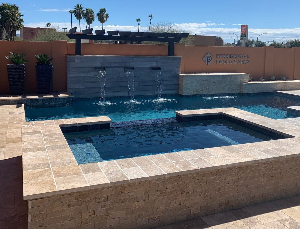 Tucson Outdoor Swimming Pool Presidential Pools, Spas & Patio