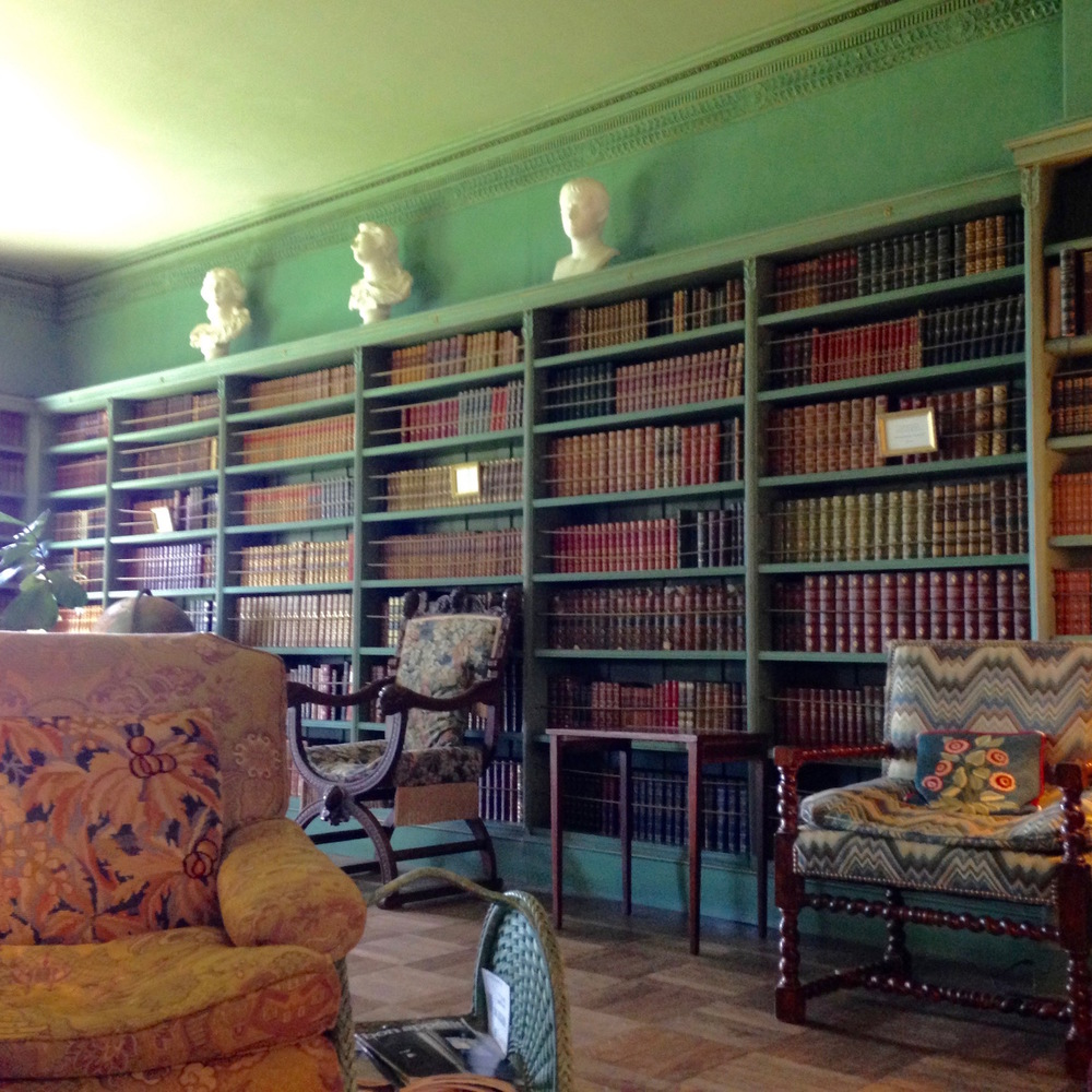 The library holds the Webb's collection of well-worn books, that guests are free to read