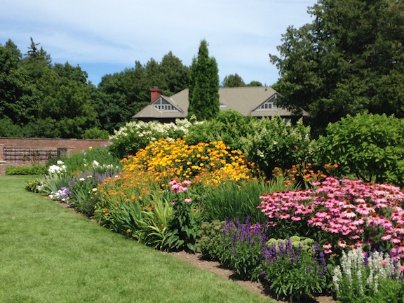 The herbaceous borders at Shelburne Farms steal the show in a formal garden with plenty of competition