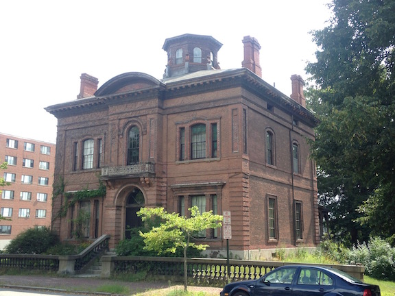 Portland Maine's west end neighborhood contained some of favorite examples of the Italianate style, including this  monumental brick example