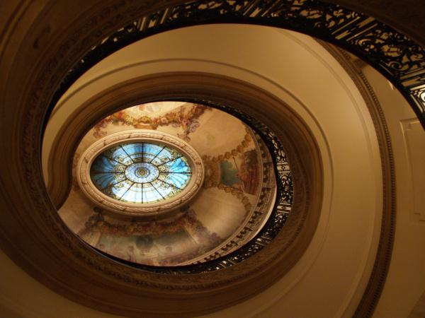 View up the staircase