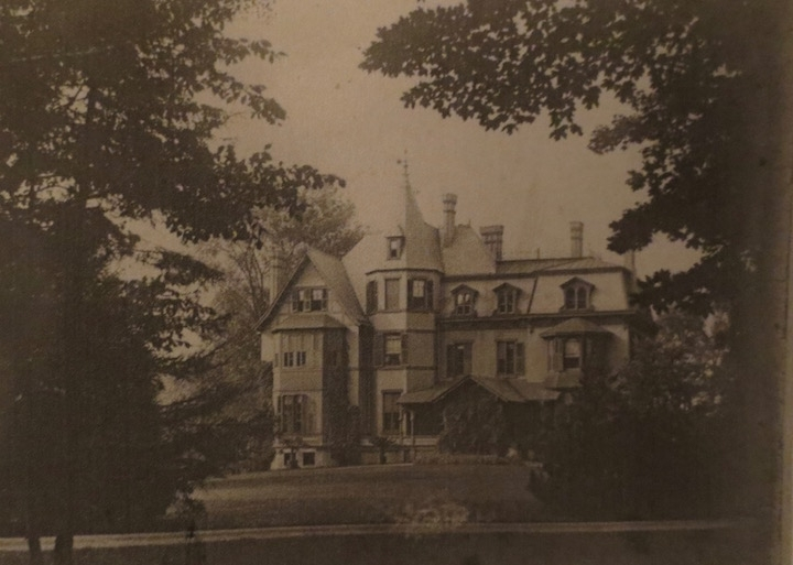 Mrs. Carter's completed mansion, looking a little less ecclesiastical. photo: New York State Historical Association Library, Cooperstown, New York, Florence Ward Local History Collection