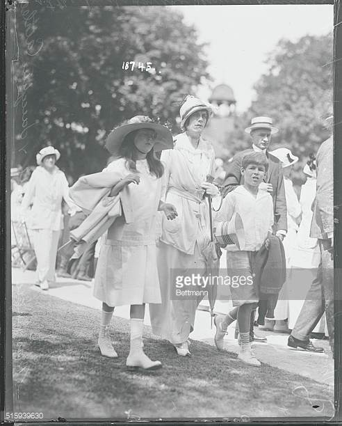 Mrs. Neilson Vanderbilt with daughter Cathleen at the tennis matches