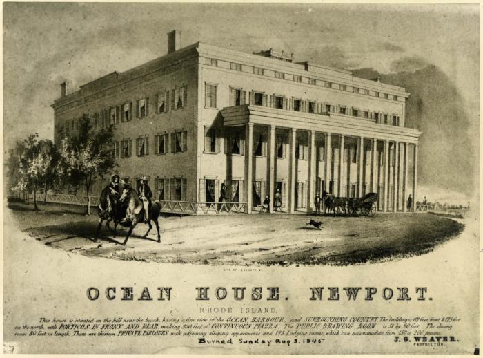 The original Ocean House, built in 1840
